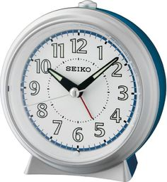 Seiko Budzik SEIKO QHE160L Cichy mechanizm Lumibrite
