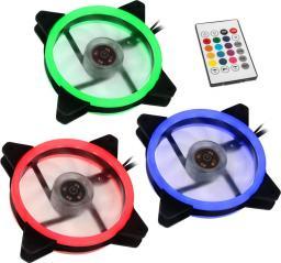 Lamptron Zestaw 3x Nasa RGB 120mm, kontroler  (LAMP-RGBF12252)