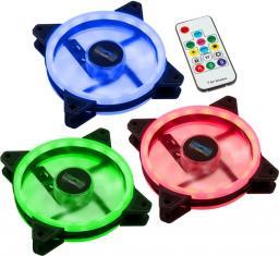 Lamptron Zestaw 3x Nova RGB Dual Ring, 120mm, kontroler na śledziu (LAMP-NOVA12254)