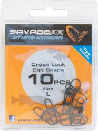 Savage Gear CrossLock Egg snap L 10szt. (61782)