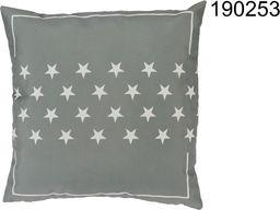 Kemis Dekoracyjna poduszka - szara w gwiazdki