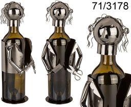 Kemis Metalowy stojak na wino - fryzjer