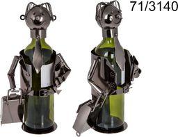 Kemis Metalowy stojak na wino - biznesmen