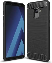 Hurtel Carbon Case elastyczne etui pokrowiec Samsung Galaxy A8 2018 A530 czarny