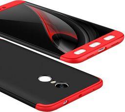 Hurtel Etui Xiaomi Redmi Note 4 (MediaTek) 360 Protection pokrowiec na przód + tył czarno-czerwony