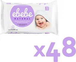 Ebebe Ebebe Chusteczki nawilżane NATURALNE - 48 pak