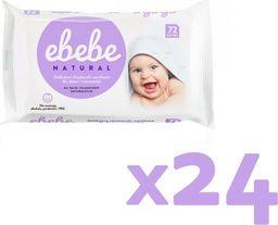 Ebebe Ebebe Chusteczki nawilżane NATURALNE - 24 pak