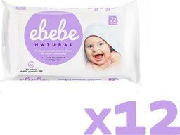 Ebebe Ebebe Chusteczki nawilżane NATURALNE - 12 pak