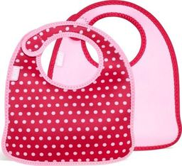 Built Śliniak Mess Mate Baby Pink Mini Dots 2 szt.