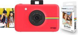 Aparat cyfrowy Polaroid Polaroid Snap - Cyfrowy Aparat Do Zdjęć Natychmiastowych - Niebieski + Opakowanie Wkładów Zink Na 30 Zdjęć