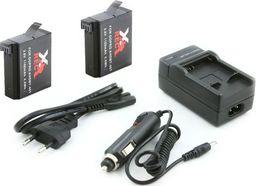 Xrec 2x Akumulator / Bateria + Ładowarka Do Ahdbt-401 Do Kamer Gopro Hero 4
