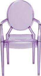 D2 Design Krzesło dziecięce Royal Jr fioletowy transparentny