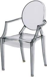 D2 Design Krzesło dziecięce Royal Jr. transparentn y dymiony