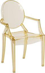 D2 Design Krzesło dziecięce Royal Jr. żółty transparent