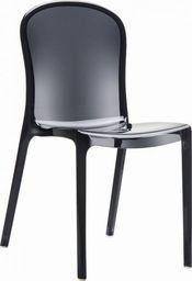 Resol Krzesło Uma czarne transparentne