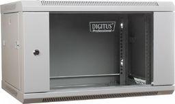 """Szafa Digitus DIGITUS Szafa wisząca 19"""" 6U 368/600/450mm, drzwi szklane, szara, niezmontowana"""