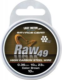 Savage Gear Raw49 0.36mm 11kg 24lb Uncoated Brown 10m (54892)
