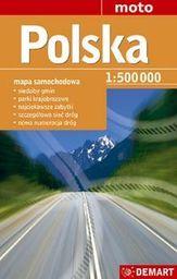 Polska. Mapa samochodowa. 1:500 000