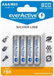 everActive Akumulator Silver Line AAA / R03 800mAh 4szt.