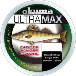 Okuma Ultramax 2oz Zander 680m 15lbs 7.7kg 0.30mm Grey (19173)
