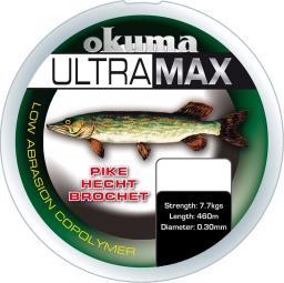 Okuma Ultramax 2oz Pike 680m 15lbs 7.7kg 0.30mm Green (19169)