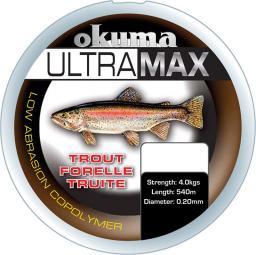 Okuma Ultramax 2oz Trout 985m 11lbs 5.6kg 0.25mm Grey (19155)