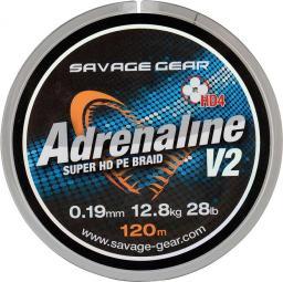 Savage Gear HD4 Adrenaline V2 120m 0.08mm 10lbs 4.5kg Grey (54826)