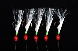 Ron Thompson Rig2 Herring Real Fish Skin 5 #8 Hooks Gold 0.60/0.50mm (42605)