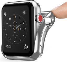Dux Ducis Etui żelowe srebrne Apple Watch seria 2/3 42 mm