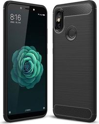 Hurtel Carbon Case elastyczne etui pokrowiec Xiaomi Mi A2 / Mi 6X czarny