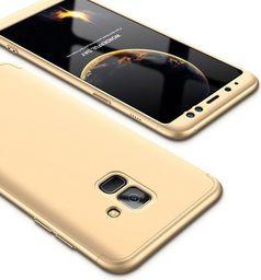 Hurtel 360 Protection etui na całą obudowę przód + tył Samsung Galaxy A6 2018 A600 złoty