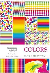 Blok biurowy GDD Blok A4/10 z motywami Colors HAPPY COLOR