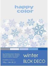 Blok biurowy GDD Blok A5/20K Deco Winter 170g HAPPY COLOR