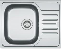 Franke Zlewozmywak 1-komorowy PXL 611 z ociekaczem 61,5 x 49cm stalowy (101.0251.295)