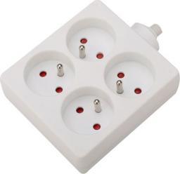 VELSTRO Przedłużacz 4-gniazdowy kwadratowy 16A kabel 3G1 1m (VS-01-057)