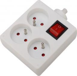 VELSTRO Przedłużacz 3-gniazdowy kwadratowy 16A z wyłącznikiem kabel 3G1 1m (VS-01-059)