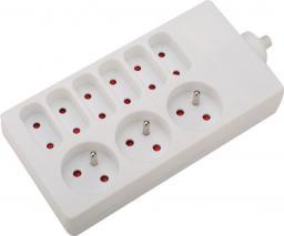 VELSTRO Przedłużacz gniazdowy  kabel 3G1 1m (VS-01-053)