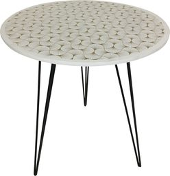 D2 Design Stolik Dakota Shell biało-czarny