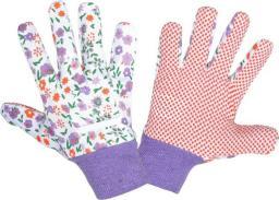 LAHTI Rękawice nakrapiane fioletowe roz. 8 (L240508P)