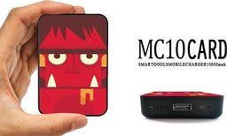 Powerbank Smartools  SMARTOOLS   POWER BANK MC10 CARD BULL 10000 mAh   Czas ładowania: 8 h Użycie: 500 razy Prąd wyjściowy: 2.1 A / 5V. Złącze USB  Wskaźnik ładowania: 4 LED