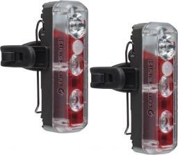 BLACKBURN Zestaw Lampki  2'FER XL USB przód 200 lumenów tył 40 lumenów czarna 2szt