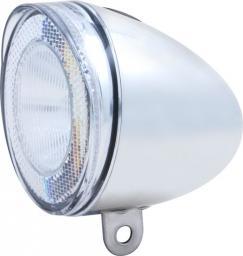 SPANNINGA Lampka przednia Swingo XB 10luxów/50 lumenów+ baterie chrom (SNG-H070017)