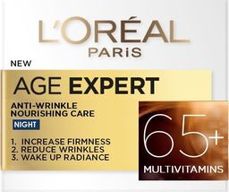 L'Oreal Paris Odżywczy krem na noc Przeciwzmarszczkowy Age Specialist 65+ 50 ml