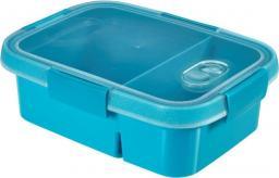 Curver Pojemnik na żywność prostokątny SMART TO GO DUAL 0,6L+0,3L niebieski