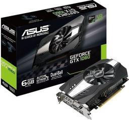Karta graficzna Asus NVIDIA GeForce GTX 1060 6 GB PCIE 3.0 16x GDDR5 8008 MHz GPU 1506 MHz Dual Slot Fansink 1xDVI 1xHDMI 1xDisplayPort (PH-GTX1060-6G)