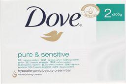 Dove  Mydło Pure & Sensitive 100g 2 szt.