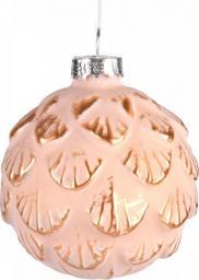 Miloo Home Bombka tłoczona różowa 6 cm