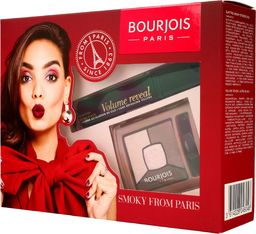 BOURJOIS Paris Zestaw prezentowy Smoky From Paris (mascara Volume Reveal 7.5ml+cienie Smoky Stories nr 002)