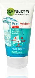 Garnier Oczyszczająca maseczka do twarzy 3w1 Skin Naturals Pure Active 150 ml