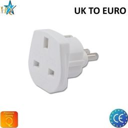 Adapter do ładowarki HQ Power Plug adapter from UK (United Kingdom) 3pin to Euro Socket - UK to EU Adapter White (OEM)